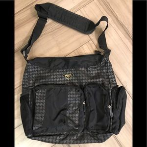 Roxy Book/Laptop Bag Black Houndstooth